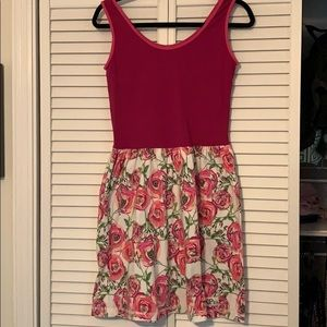 KPea dress pink and floral